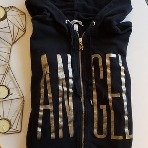 Victoria's Secret Angel Black Zip Up Hoodie